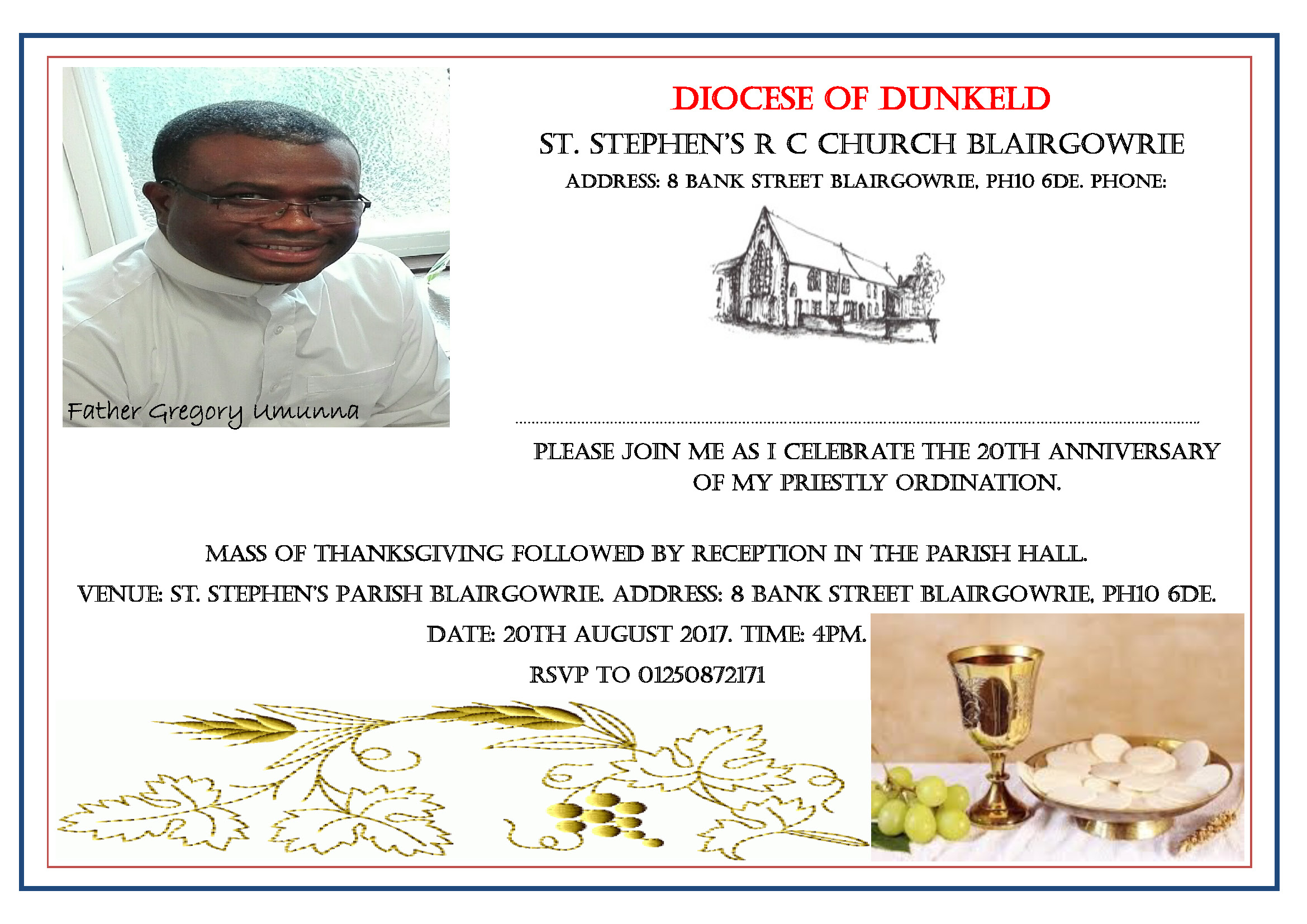 Ordination Anniversary Invitations Topsimages