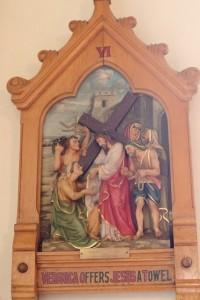 VI - Veronica offers Jesus a towel